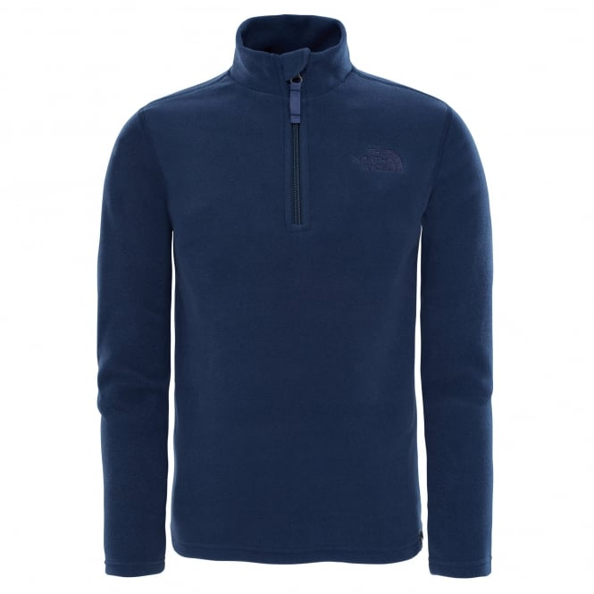 The North Face Boys Glacier 1/4 Zip Fleece Cosmic Blue