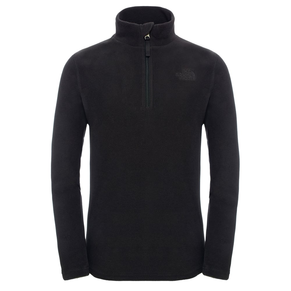 f1744b1bd The North Face Boys Glacier 1/4 Zip Fleece TNF Black - Kids from ...