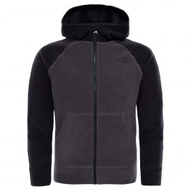 Boys Glacier Full Zip Hoodie Graphite Grey/Black