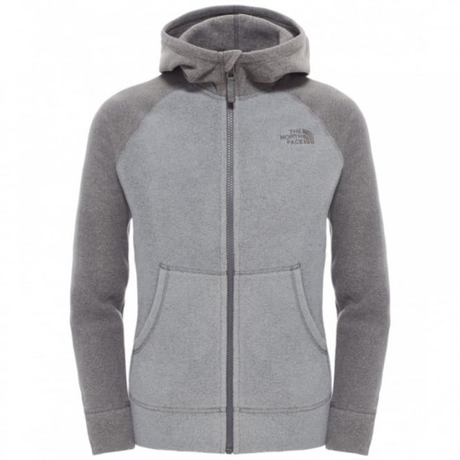 6e79494532b8b The North Face Boys Glacier Full Zip Hoodie Heather Grey - Kids from ...