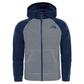 Boys Glacier Full Zip Hoodie Mid Grey/Cosmic Blue