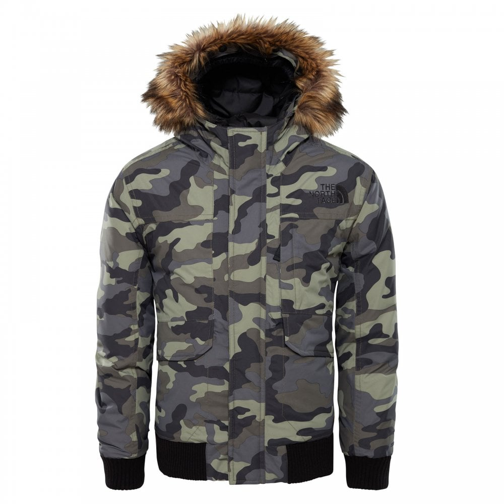 3a05e1c1a29e The North Face Boys Gotham Down Jacket New Taupe Green Camo - Kids ...