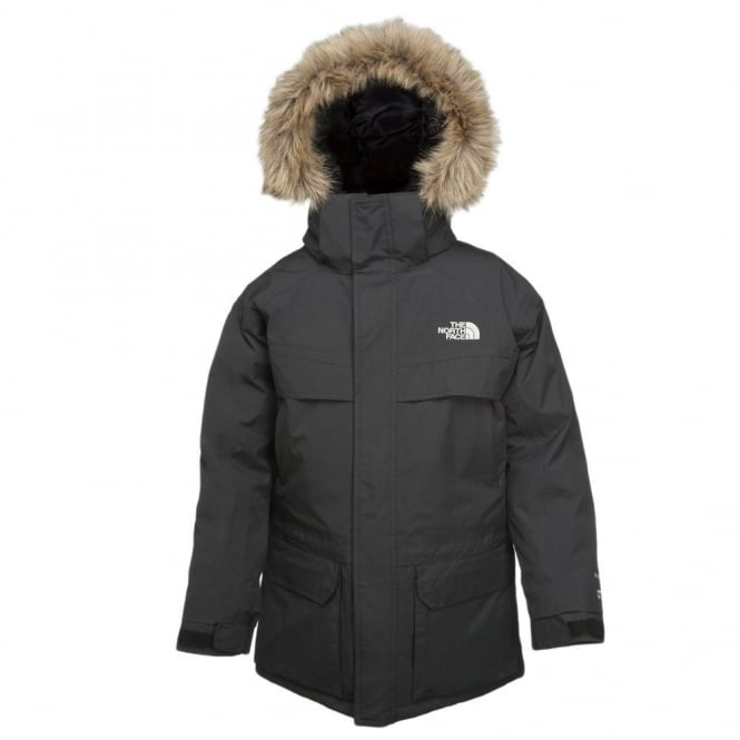 af6d5fc6354c The North Face Boys Black McMurdo Parka - Free UK Delivery