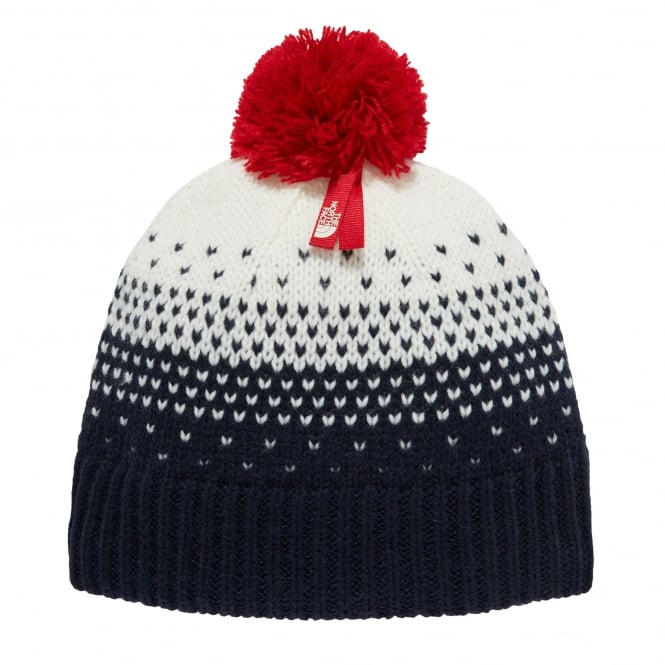 The North Face Boys Pom Pom Beanie Cosmic Blue
