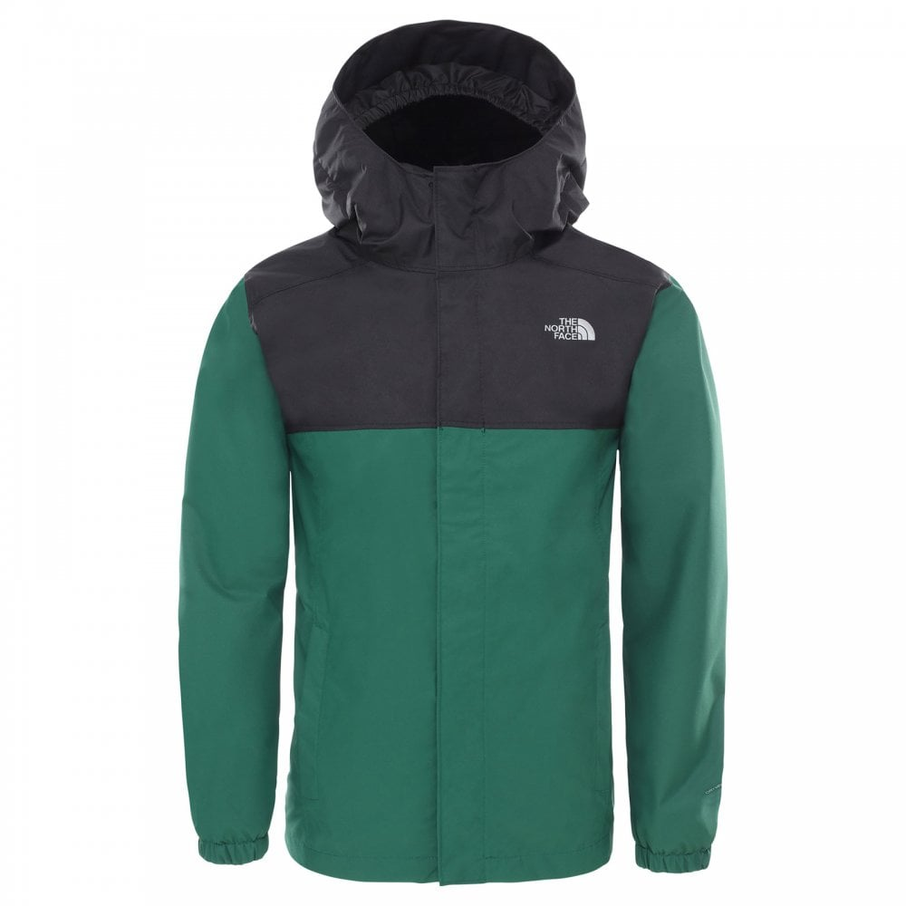 The North Face BOYS RESOLVE REFLECTIVE JACKET, Night Green