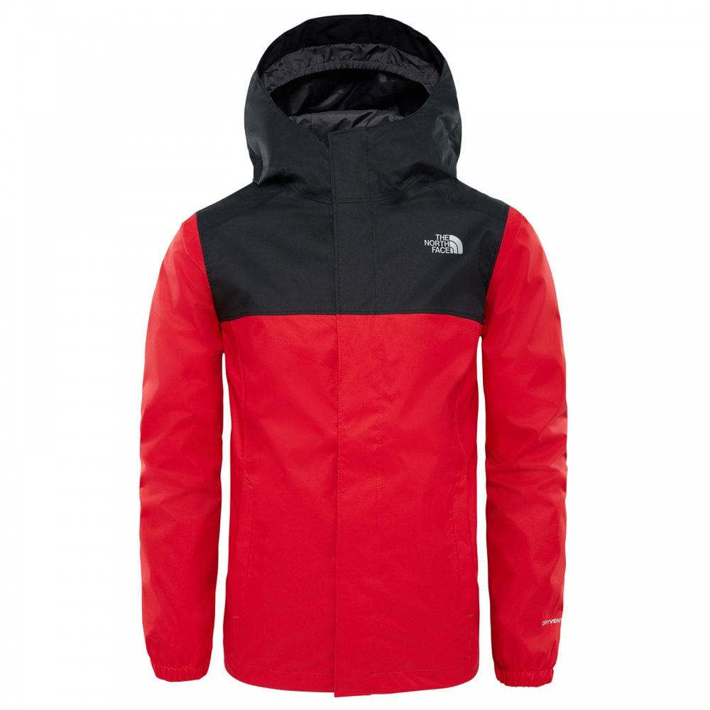 189ec8f6af The North Face Boys Resolve Reflective Jacket TNF Red - Kids from ...