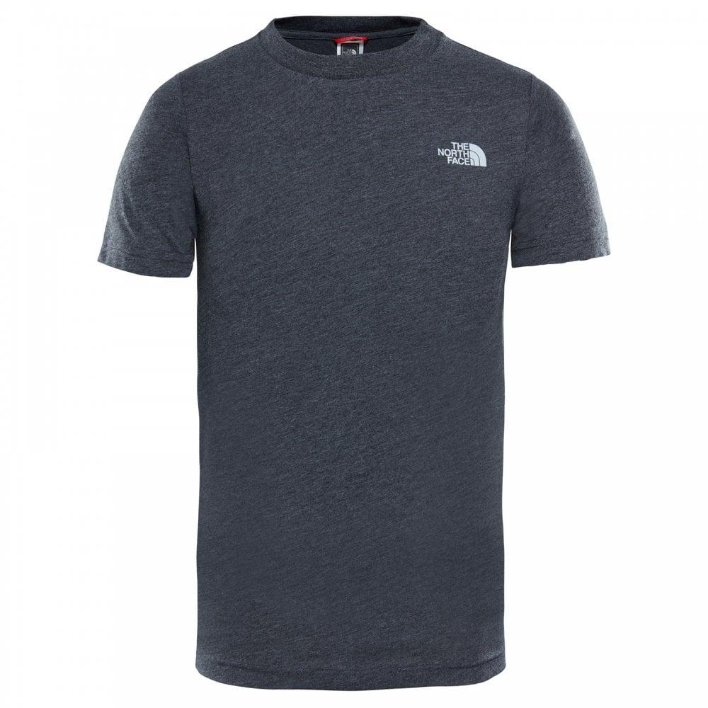 bcb69628 Boys Simple Dome Short Sleeve T-Shirt TNF Dark Grey Heather/High Rise Grey