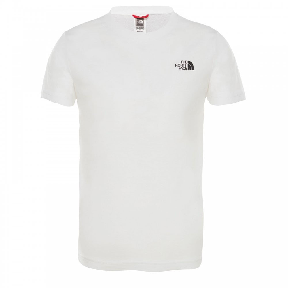 86866e7d The North Face Boys Simple Dome Short Sleeve T-Shirt TNF White ...