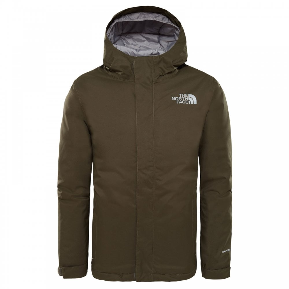8dd972c21ce1 The North Face Boys Snow Quest Jacket New Taupe Green - Kids from ...