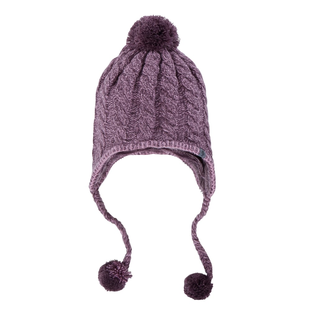 The North Face Fuzzy Earflap Hat Black Plum - Ladies from Great ... 36da98e02d