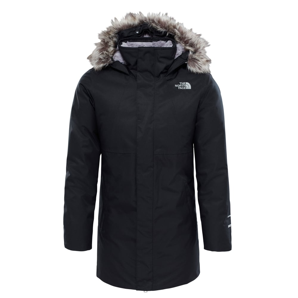 5f3f695a0 The North Face Girls Arctic Swirl Down Jacket Black - Kids from ...