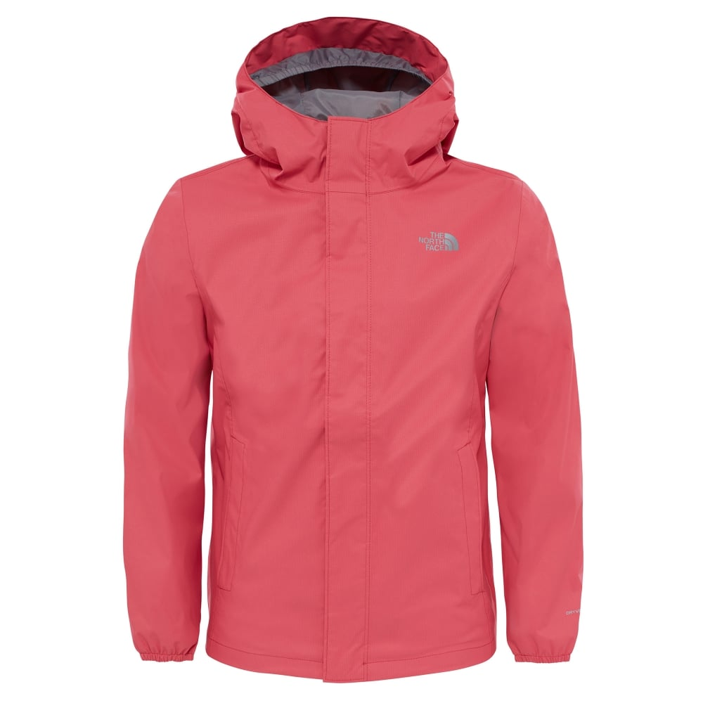 The North Face Girls Resolve Reflective Jacket Honeysuckle Pink ... 212f59340