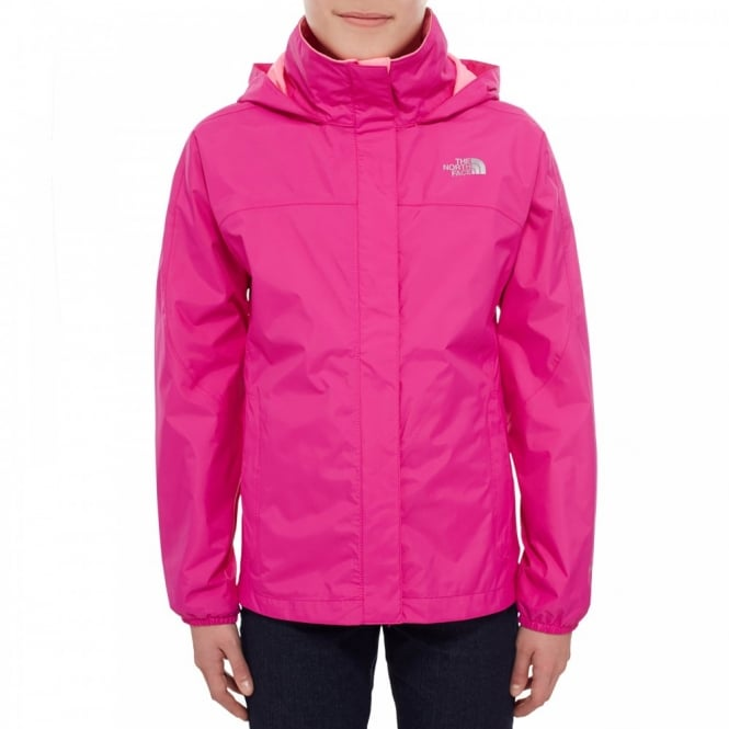 The North Face Girls Resolve Reflective Jacket Luminous Pink - Kids ... 44dfd5a61
