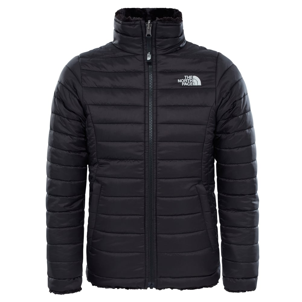a76846e865d7 The North Face Girls Reversible Mossbud Swirl Jacket Black - Kids ...