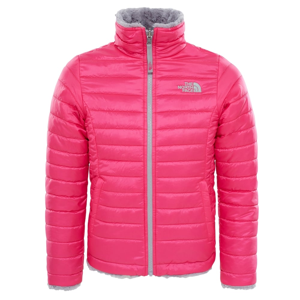 2d4cf443f The North Face Girls Reversible Mossbud Swirl Jacket Petticoat Pink ...