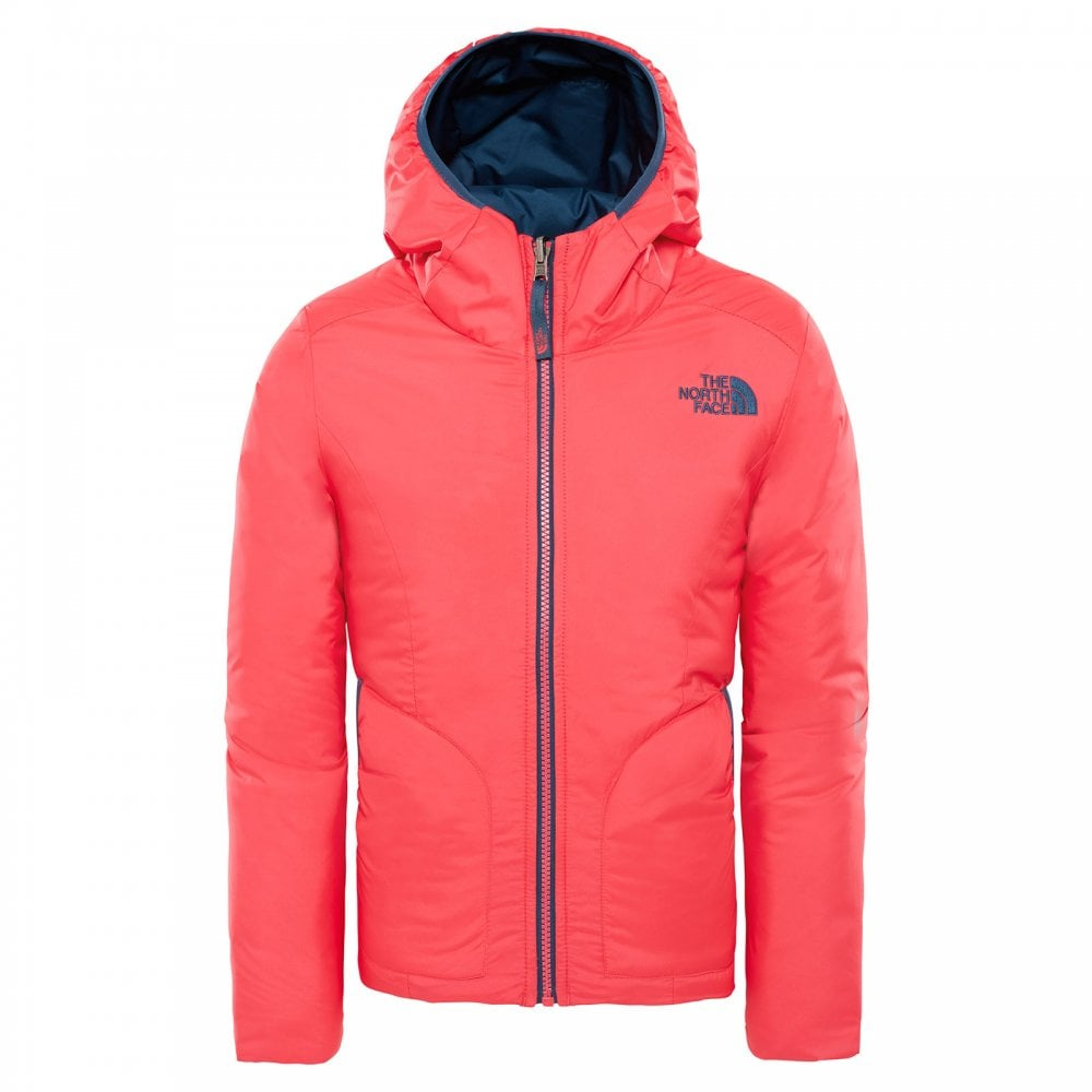 258d31e1be89 The North Face Girls Reversible Perrito Jacket Atomic Pink - Kids ...