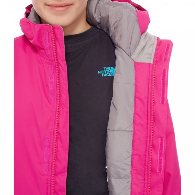 fc0a21f76 The North Face Girls Snow Quest Jacket Luminous Pink - Kids from ...