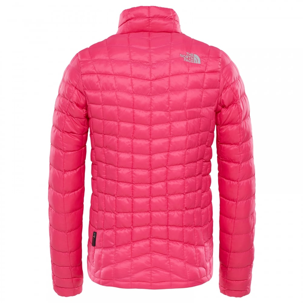 The North Face Girls Thermoball Full Zip Jacket Petticoat Pink