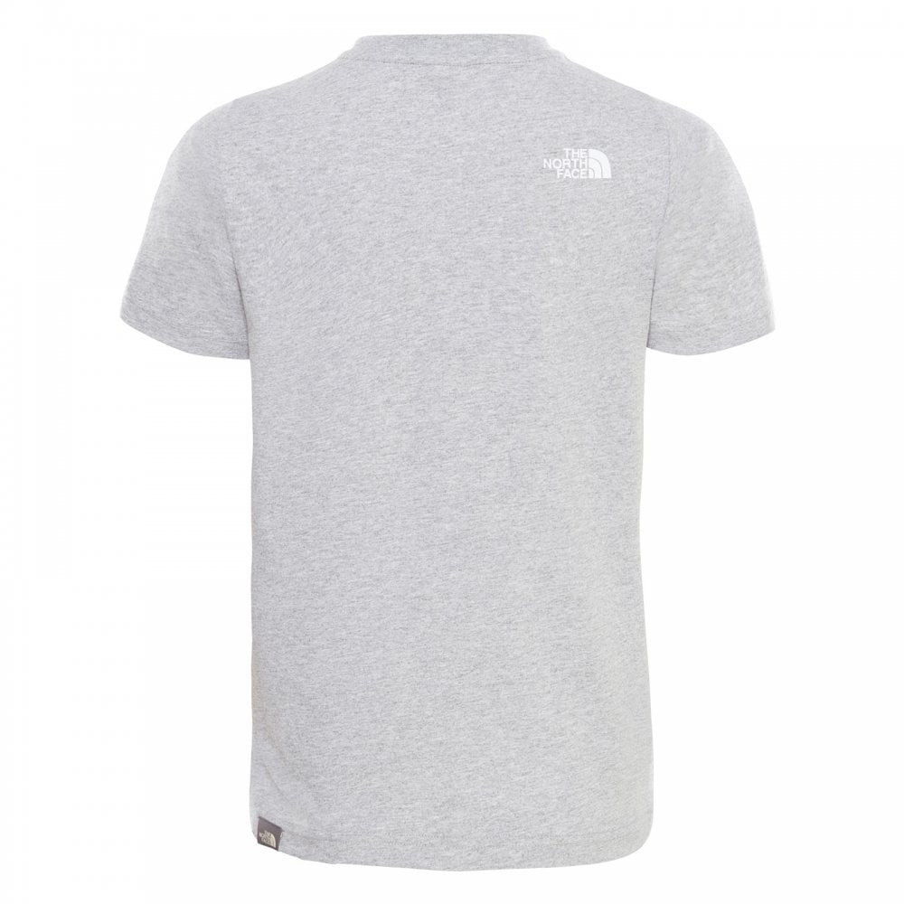 5bbbdbcf The North Face Kids Simple Dome Short Sleeve T TNF Light Grey/White ...