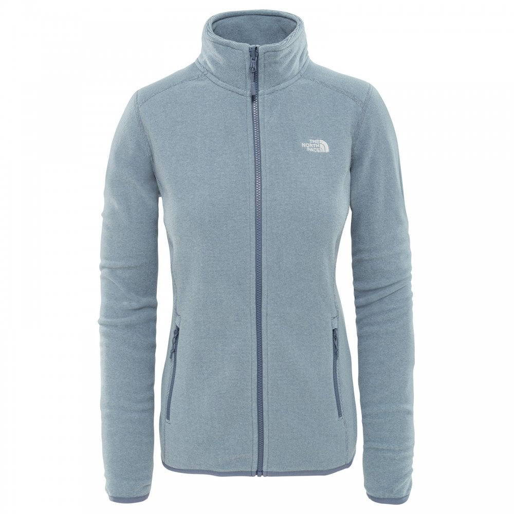 e8acd4af4b38 The North Face Ladies 100 Glacier Full Zip Fleece Grisaille Grey ...