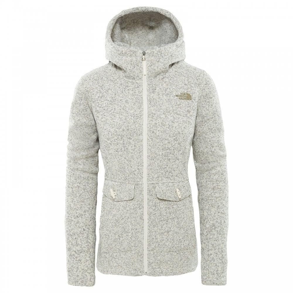 1f4a67a811e The North Face Ladies Crescent Fleece Parka Vintage White Heather ...