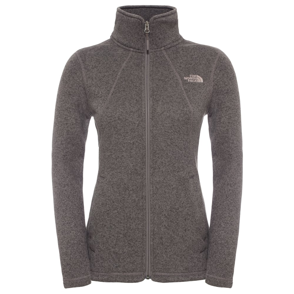 66aef1d3e The North Face Ladies Crescent Full Zip Fleece Jacket Rabbit Grey
