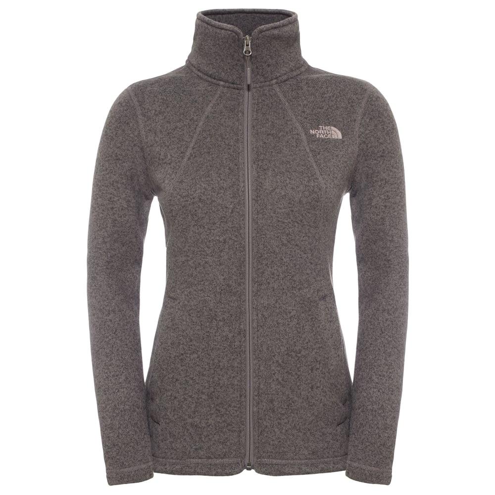 397117e01 The North Face Ladies Crescent Full Zip Fleece Jacket Rabbit Grey