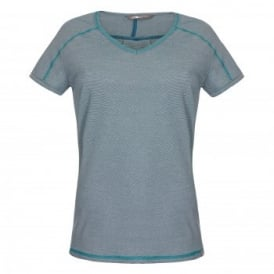 Ladies Dayspring Short Sleeve T-Shirt Prussian Blue
