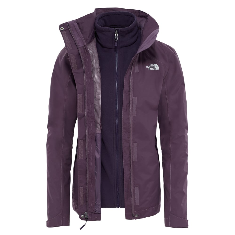 d213e67ec946 The North Face Ladies Evolution II Triclimate Jacket Black Plum ...