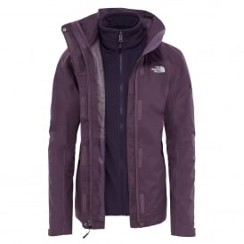Ladies Evolution II Triclimate Jacket Black Plum