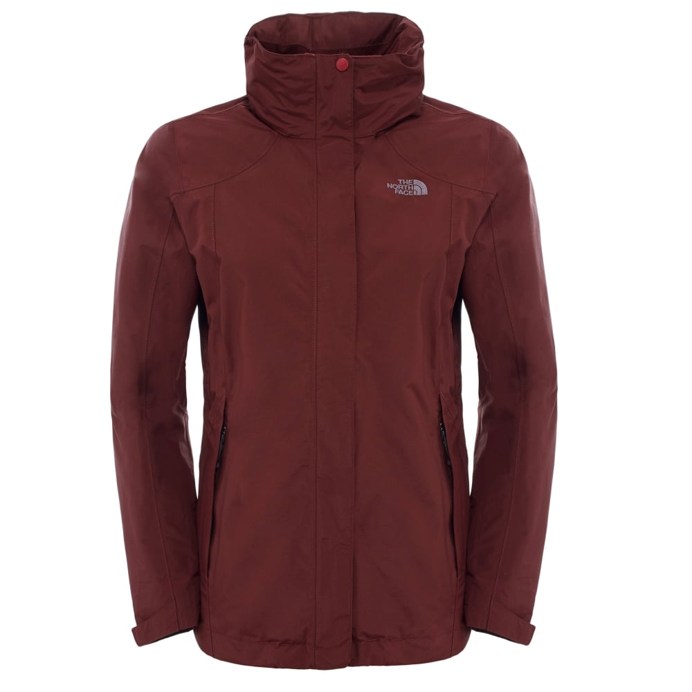 The North Face Ladies Evolution II Triclimate Jacket Deep Garnet Red ... 075a350b12fc