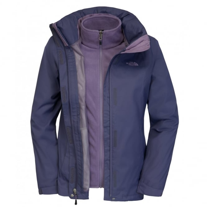 67c7a585c19c The North Face Ladies Evolve II Triclimate Jacket Greystone Blue ...