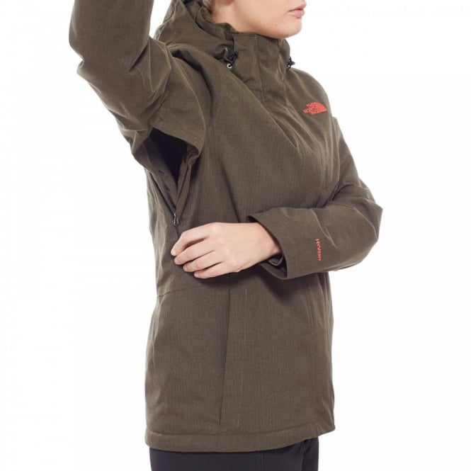 c8bcd3df7 The North Face Ladies Inlux Insulated Jacket New Taupe Green