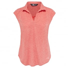 Ladies Inlux Sleeveless Top Fire Brick Red Heather