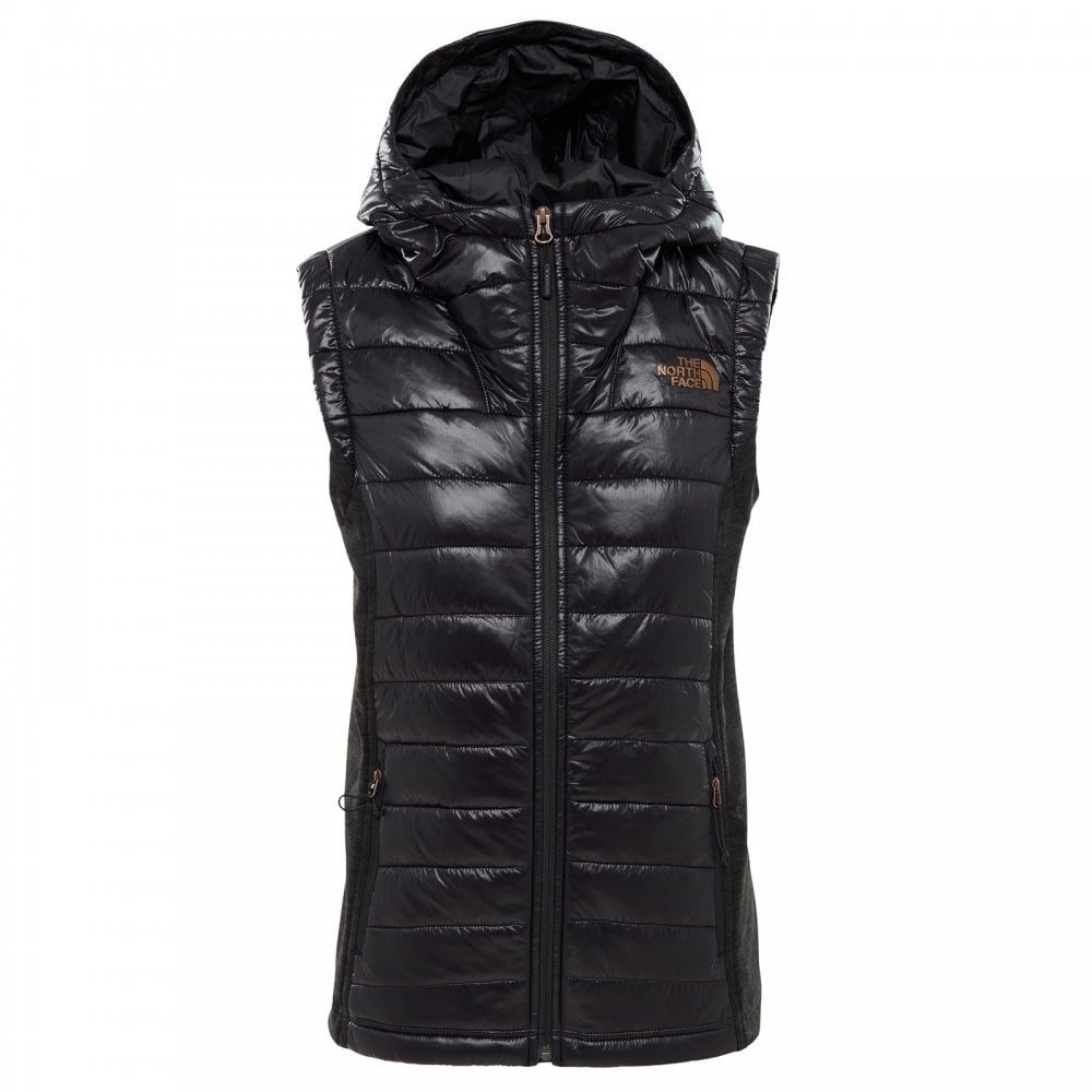 f563d3d09 Ladies Mashup Vest TNF Black Shine/TNF Black Heather