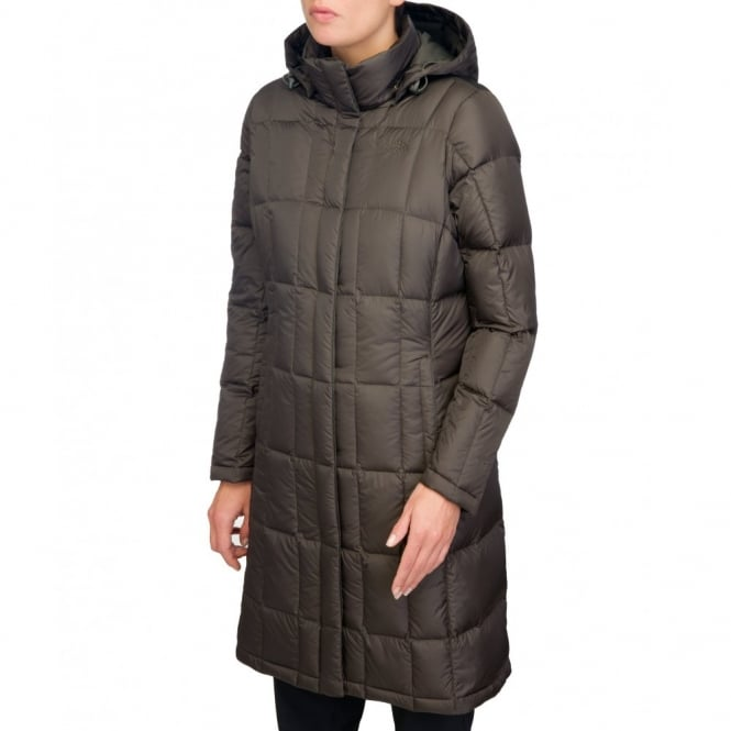 Ladies Metropolis Parka Black Ink Green