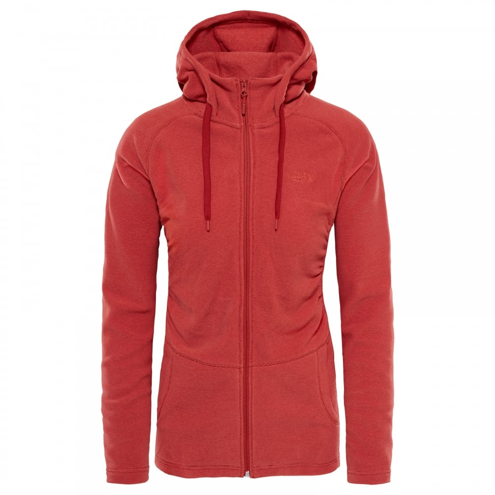 aaf3737d4d The North Face Ladies Mezzaluna Full Zip Fleece Bossa Nova Red ...