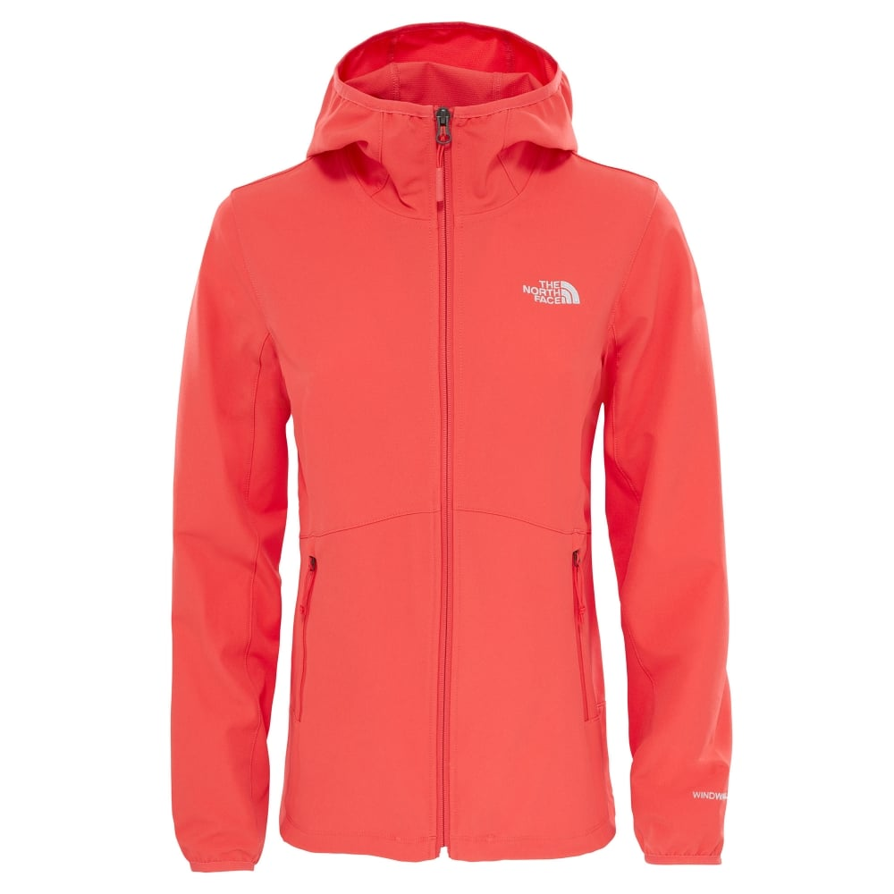ace647159 Ladies Nimble Softshell Hoodie Cayenne Red