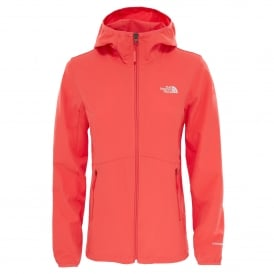 Ladies Nimble Softshell Hoodie Cayenne Red