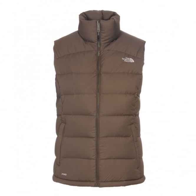 d2febfe93594 The North Face Ladies Brownie Brown Nuptse 2 Vest - Free UK Delivery