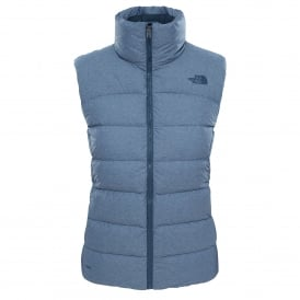 Ladies Nuptse Vest Ink Blue