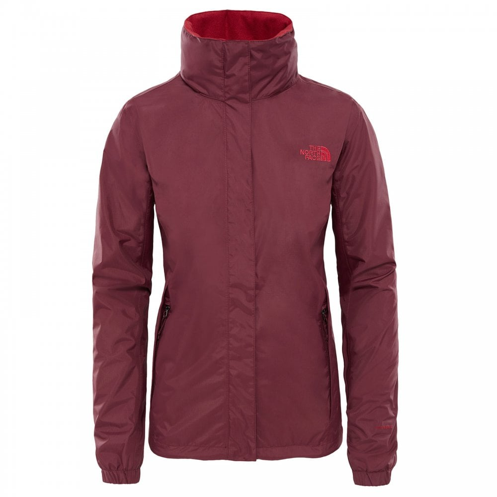 The North Face W Resolve 2 Jkt Fig//Rumba Red S