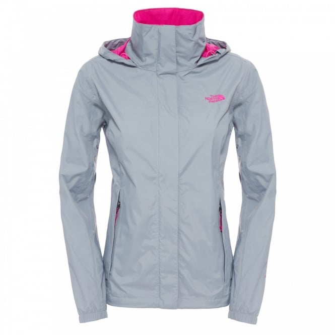 4a02716be083 The North Face Ladies Resolve Jacket Mid Grey Pink - Ladies from ...