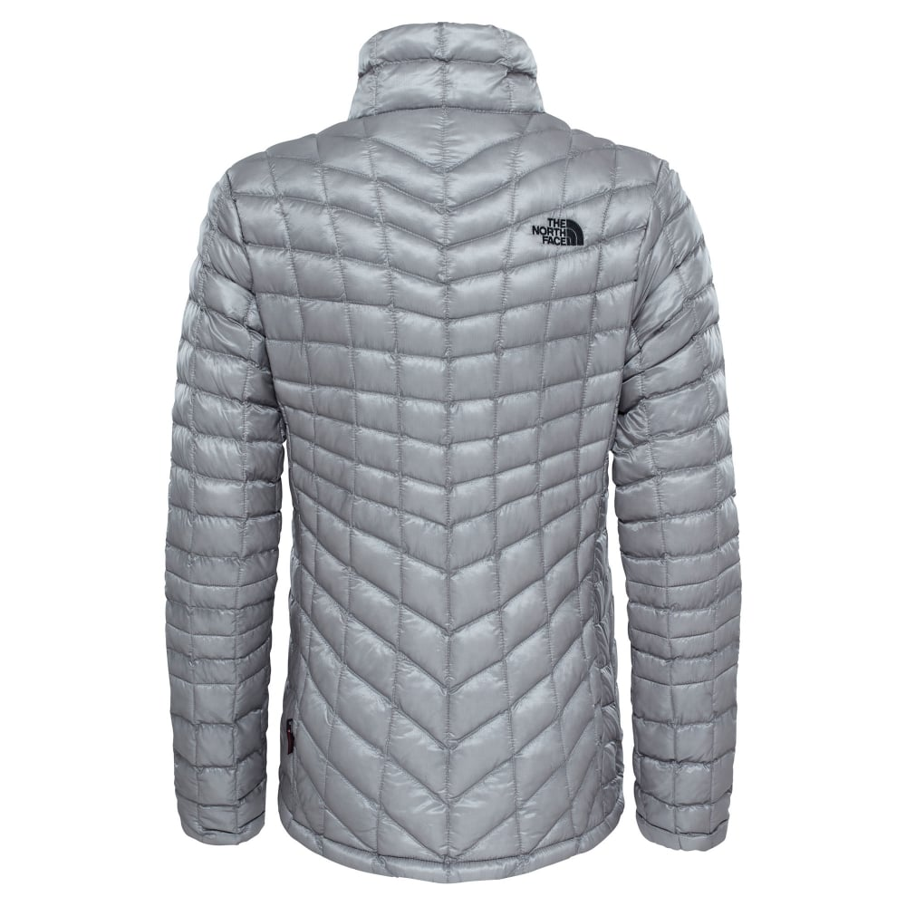 The North Face Ladies Thermoball Jacket Metallic Silver - Ladies ... 8c774b200
