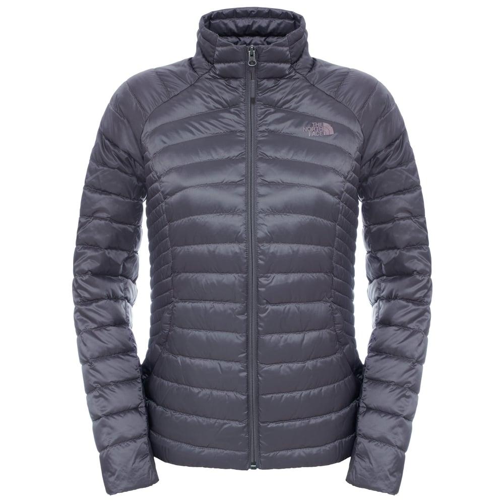 60b5d737e4c The North Face Ladies Tonnerro Full Zip Fleece Jacket Rabbit Grey