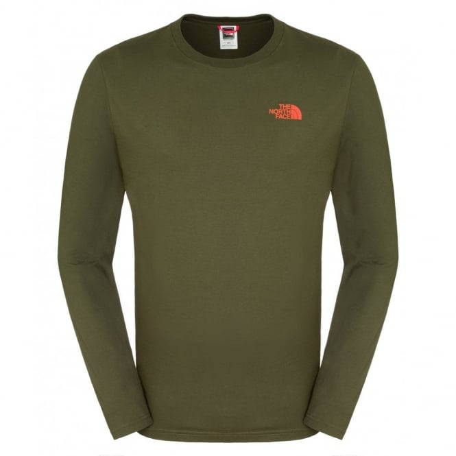 5e7713a43 The North Face LS Easy Tee - F.Green