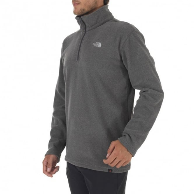 The North Face Mens 100 Glacier 1 4 Zip Fleece Graphite Grey - Mens ... 020c72d2c