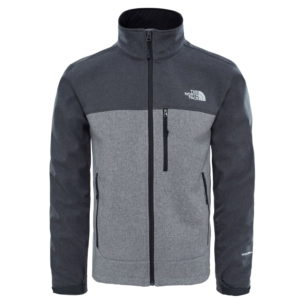 3cdc717a090b The North Face Mens Apex Bionic Softshell Jacket TNF Dark Grey ...