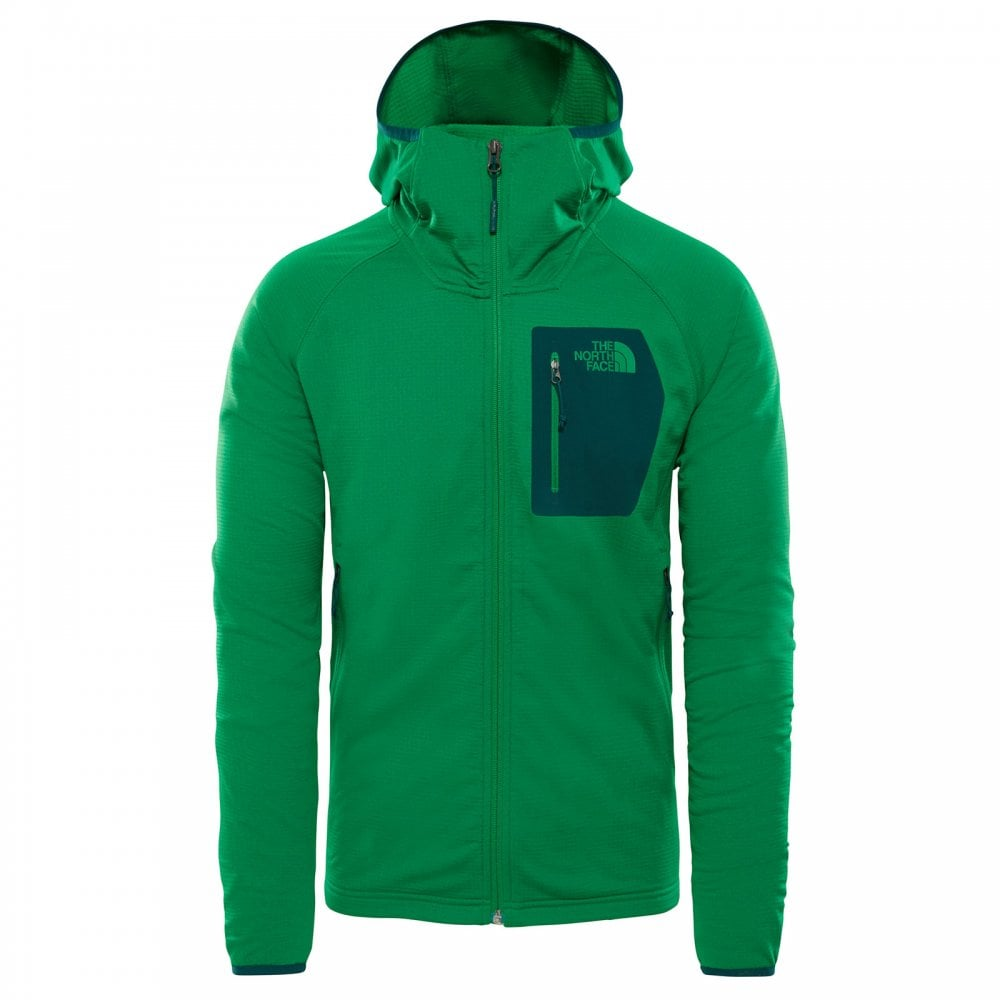 c03fcf04b Mens Borod Fleece Hoodie Primary Green/Botanical Garden Green