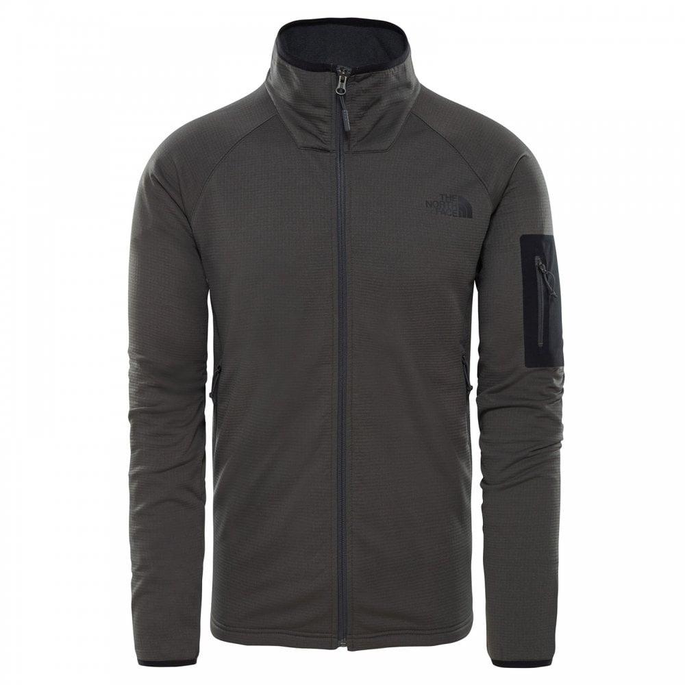 085d95ee4708 The North Face Mens Borod Full Zip Fleece Jacket Asphalt Grey TNF ...